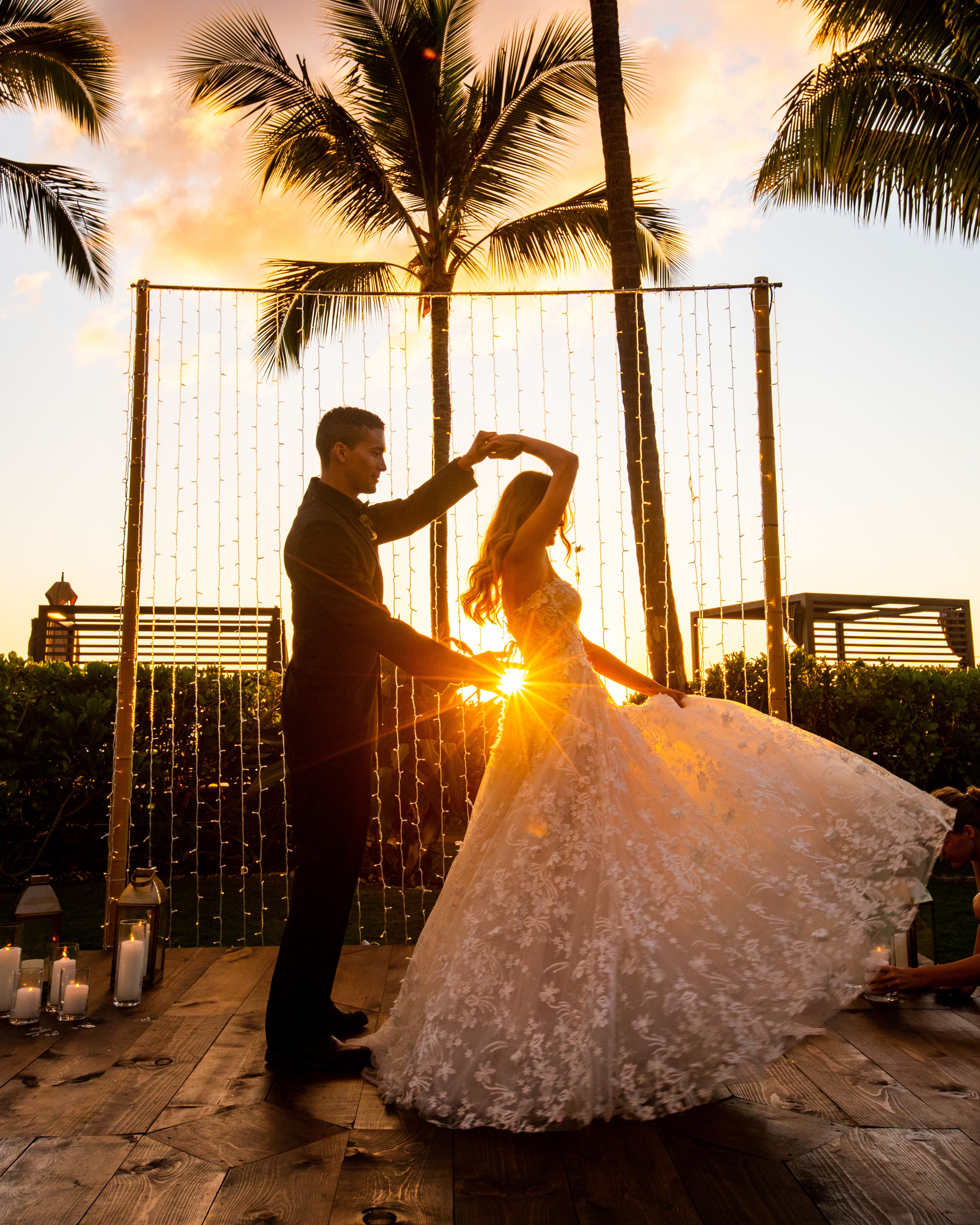 Can we talk about this magic? Featuring our custom wood dance floor & twinkle light curtain. Photography by @connortrimble   #oahu #hawaii #wedding #reception #styled #weddingreception #hawaiilife #weddings #weddinggoals #oahulife #receptiondecor #luckyweliveinhawaii #weddinglook #outdoorreception #oahuevents #bridal #dreamwedding #love #design #aloha #weddingmoments #hawaiian #weddingreception #weddinggoals #luxurywedding #weddingbells #hawaiilove #styledetails