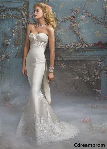 simple wedding dress #wedding #dresses