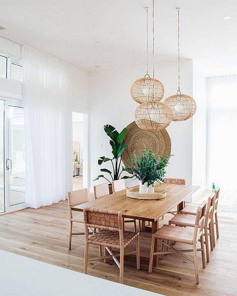 30 incredible chic boho dining room decor ideas with rustic style dining room table decor on boho chic dining room kitchen dining tables id=14713