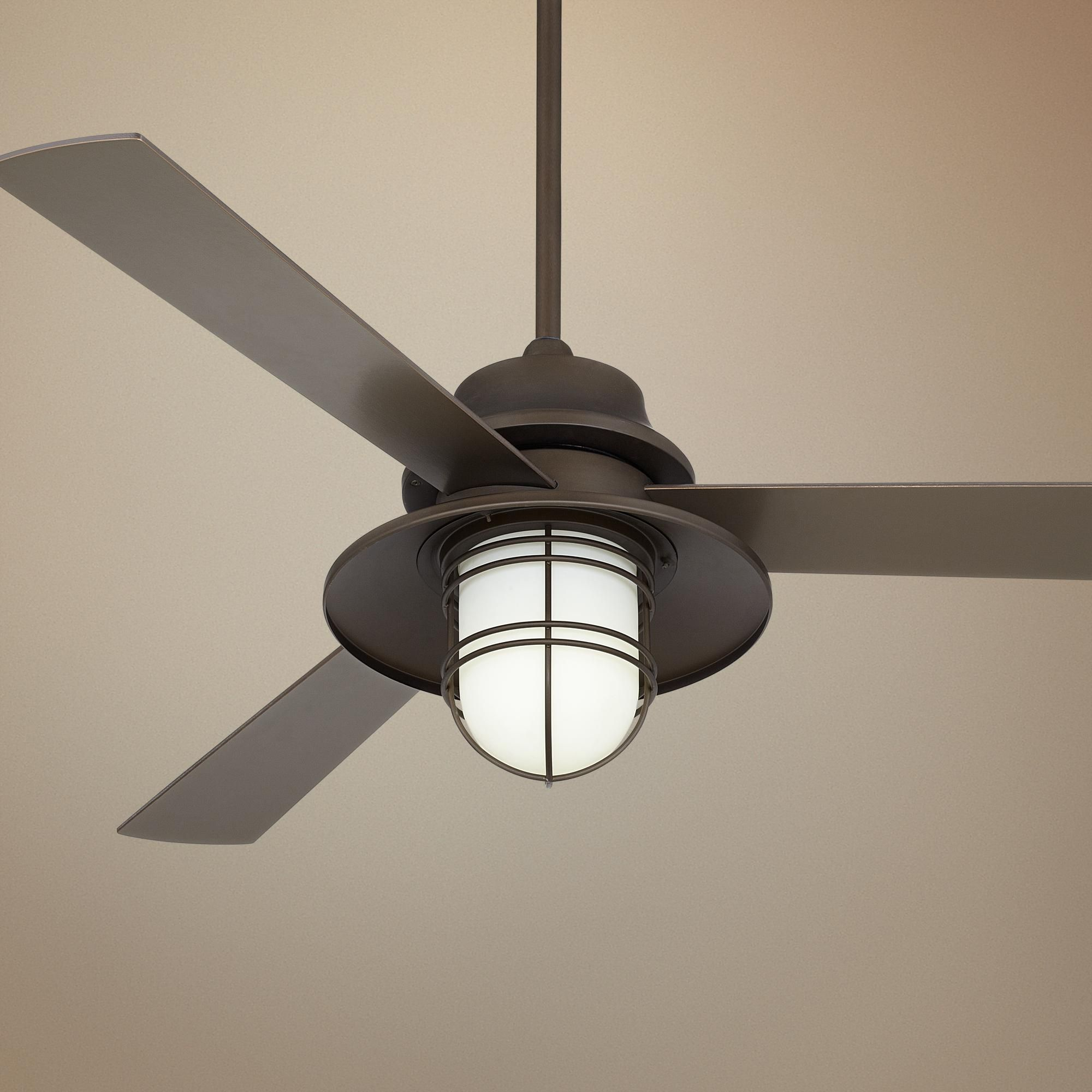 "52"" Casa Solera Industrial Bronze Outdoor Ceiling Fan"