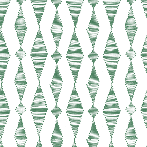 Go with the Flow in Jade (teal green) Handblock printed