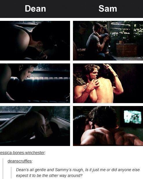 I Always Thought Sam Would Be Rough Amp Dean Would Be Gentle