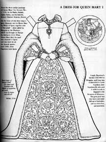 Mary As A Paper Doll From Queen Elizabeth Paper Dolls To Color From Bellerophon Book People Coloring Pages Paper Dolls Clothing Paper Dolls