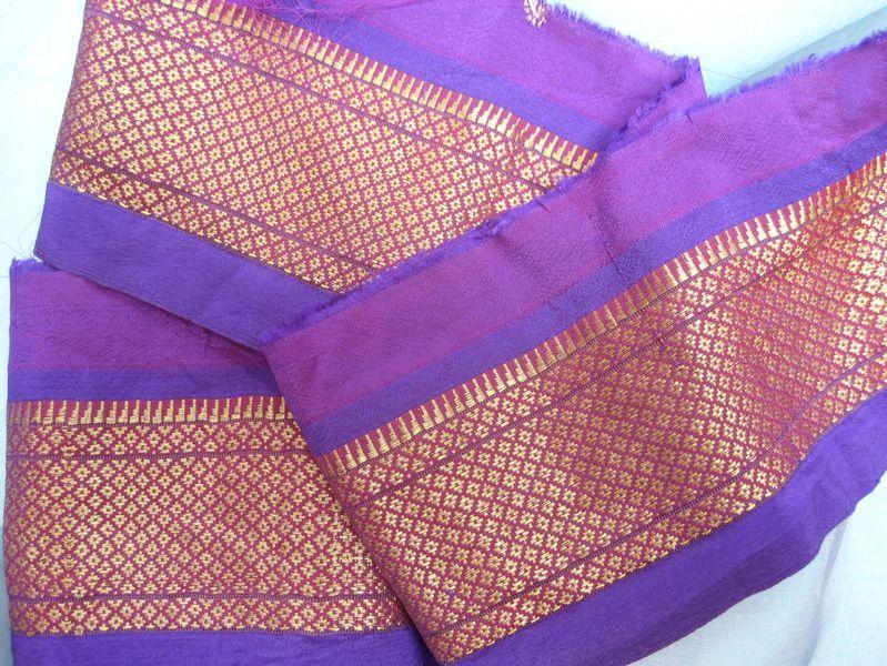 Borte Sari  Seide Vintage Oriental Nr. 259 von MariaSingh auf DaWanda.com