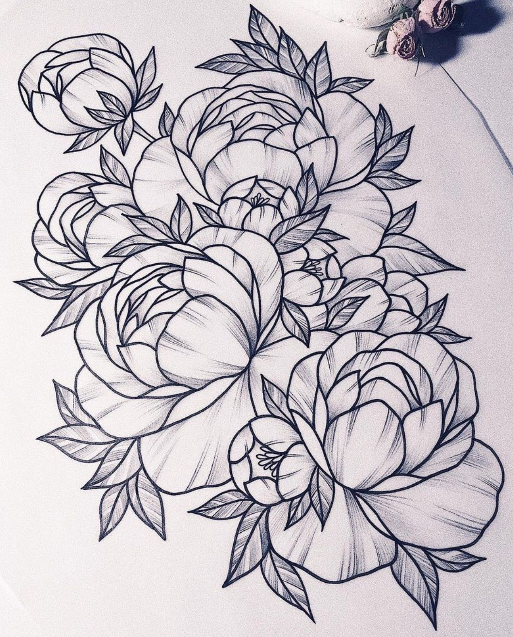 Pin By Janie Roesner On Peonies Love Tattoos Flower Drawing Flower Tattoo Designs