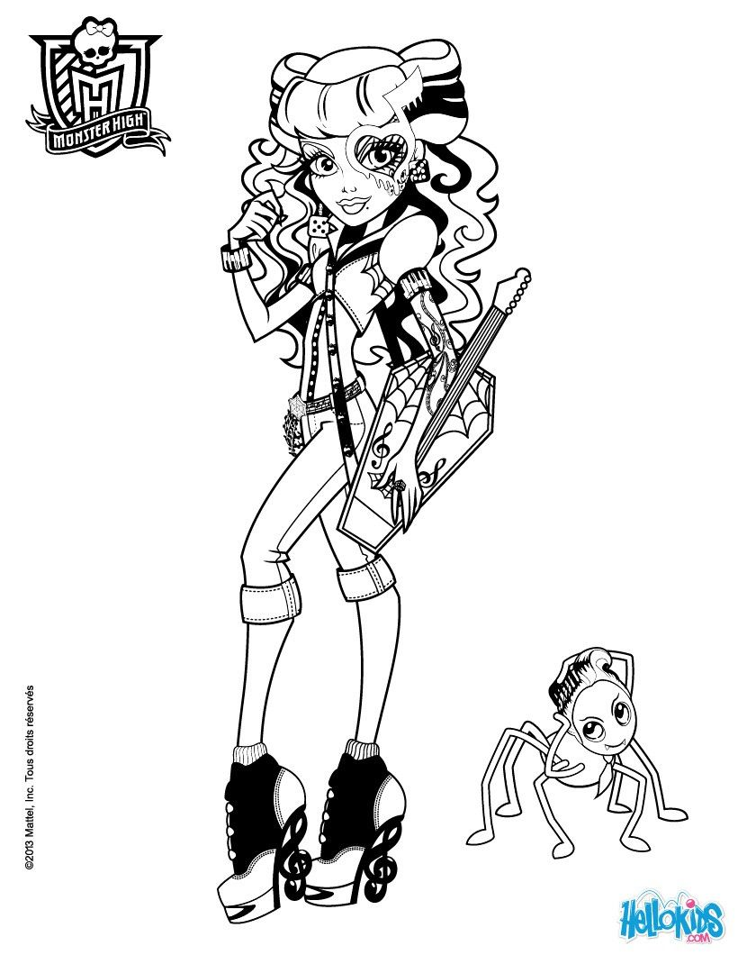 Color online - Monster High Operetta with her pet | 2 Color ...