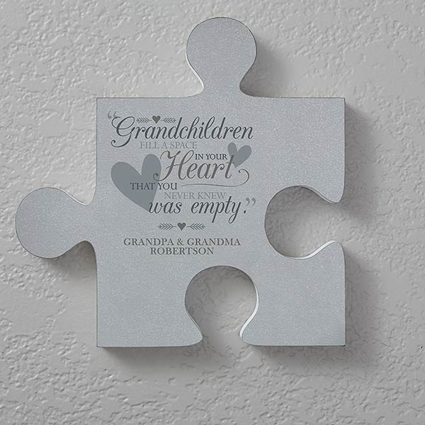 Grandparents Personalized Puzzle Piece Wall Decor Wall Puzzle Personalized Wall Decor Puzzle Pieces
