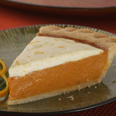 Zesty Cream Topped Orange Pumpkin Pie Is Delicately Flavored With Orange Peel And A Wonderful Creamy Sour Sweet Potato Pie Pumpkin Pie Recipes Easy Pumpkin Pie