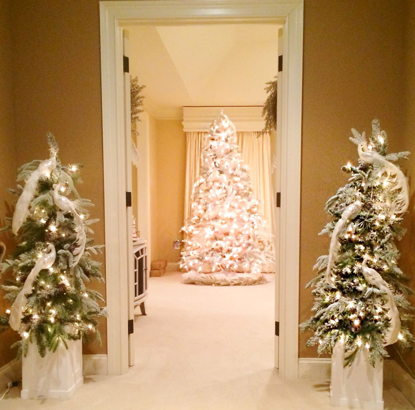 A grand entrance to the Master bedroom Christmas deco