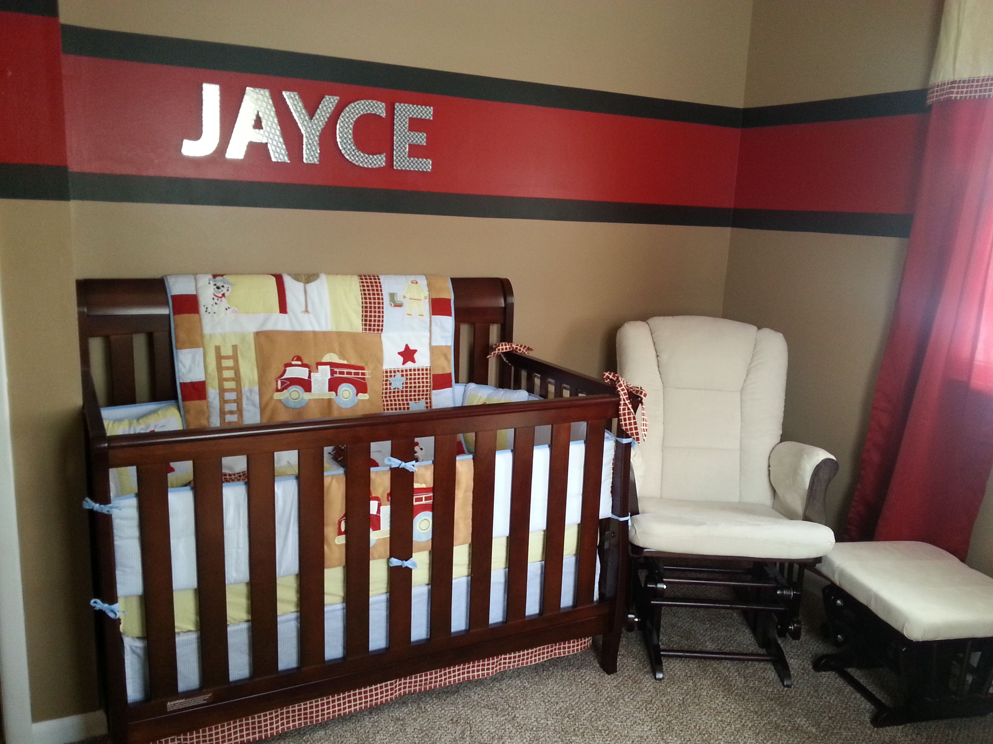 Our firefighter nursery. Top 25 ideas about Firefighter Room on Pinterest   Firefighter