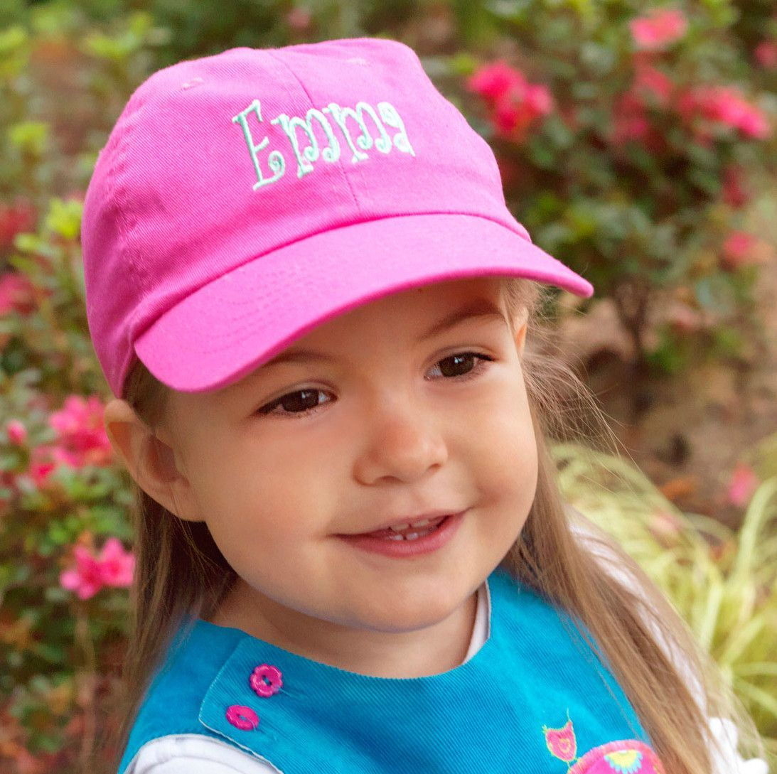 6b1a4ab15b776 Personalized Baseball Hat Hot Pink Toddler Girls Kids Cap - Monogrammed  item - custom embroidery with name or monogram included - Soft Cotton -  Adjustable ...