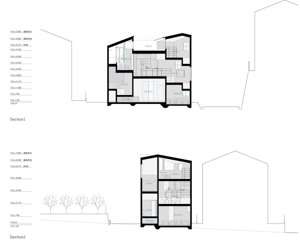 House In Takatsuki By Tato Architects Has 16 Different Floor Levels In 2020 Architect House Architect House