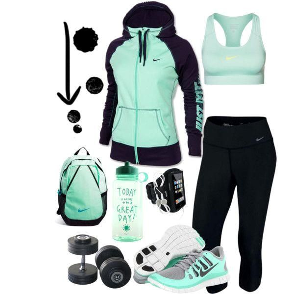 """""""Workout Mint"""" by ke  """"Workout Mint"""" by kerimcd on Polyvore...For when I """"work out""""...lol"""