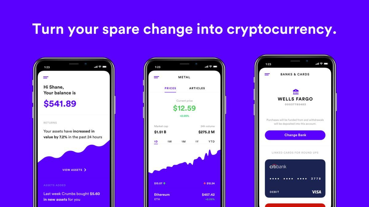 invest spare change into cryptocurrency