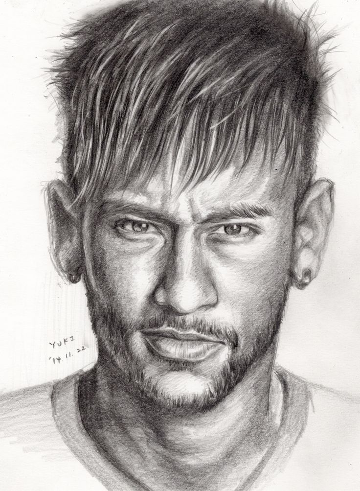 Pin by kulička on obličej pinterest neymar drawings and face drawings