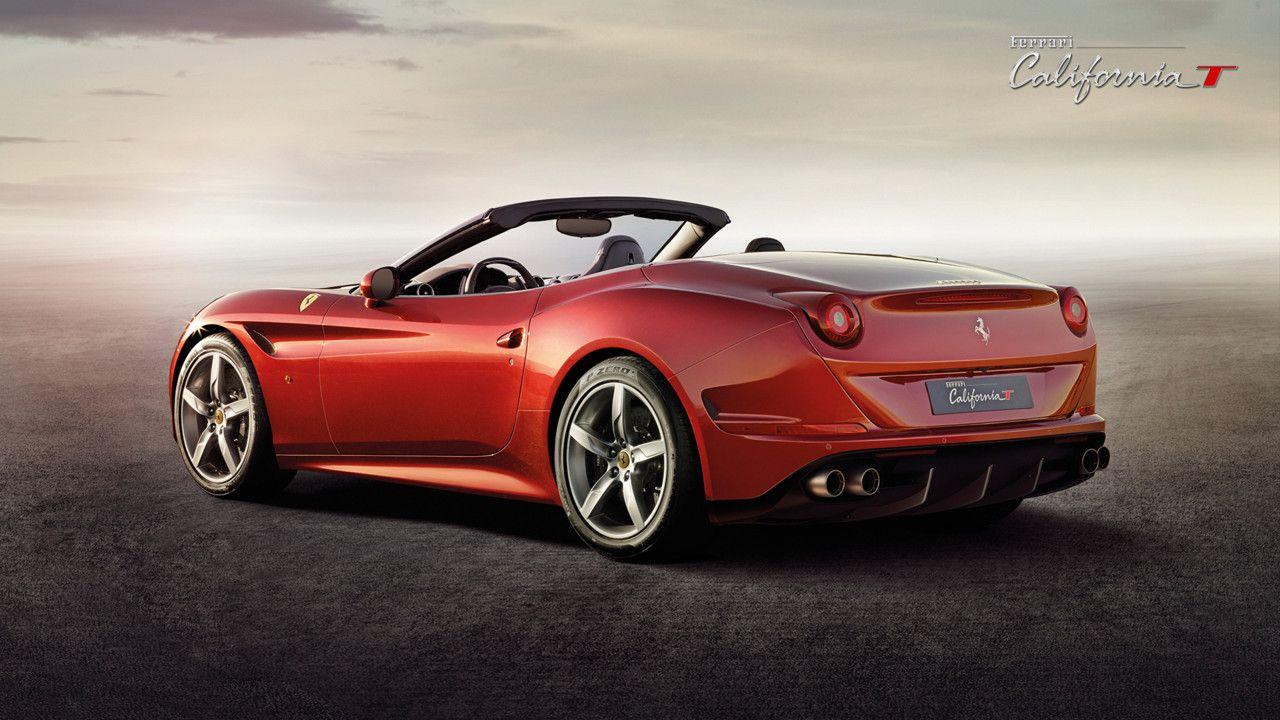 Ferrari California T Three Quarters Back View Automobile