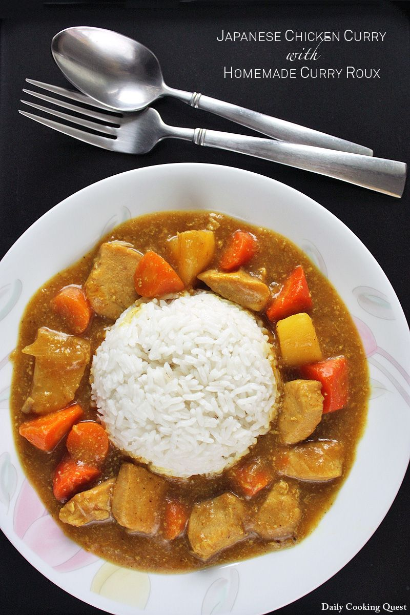 Japanese Chicken Curry With Homemade Curry Roux Recipe Japanese Chicken Curry Homemade Curry Japanese Chicken