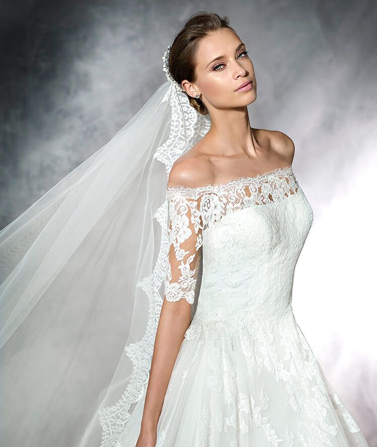 Low Waist Wedding Gowns: PLEASANT - Wedding Dress In Tulle With A Low Waist