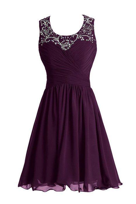 Abendkleid lila 48