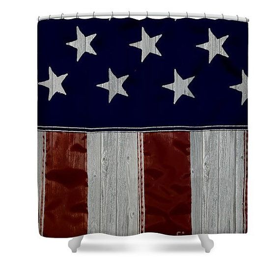 Rustic American Designer Shower Curtain,American Flag Bathroom ... on red white aqua bathroom, red and black bathroom, tan and blue bathroom decor, red zebra bathroom wall, red bedroom decorating, pink and blue bathroom decor, red beautiful bathrooms, lighthouse bathroom decor, red and white bathroom beadboard,