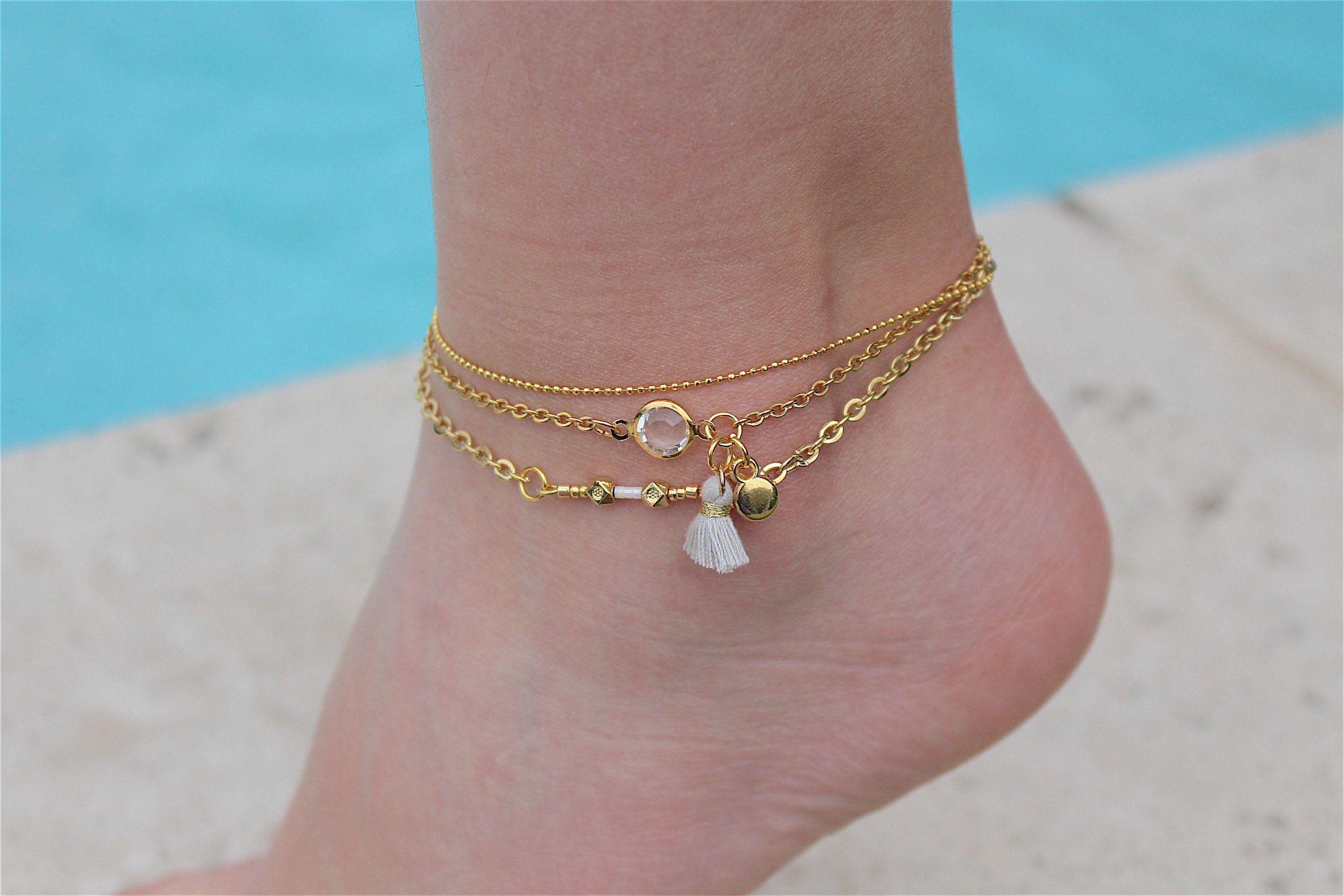 bracelet cheville acier
