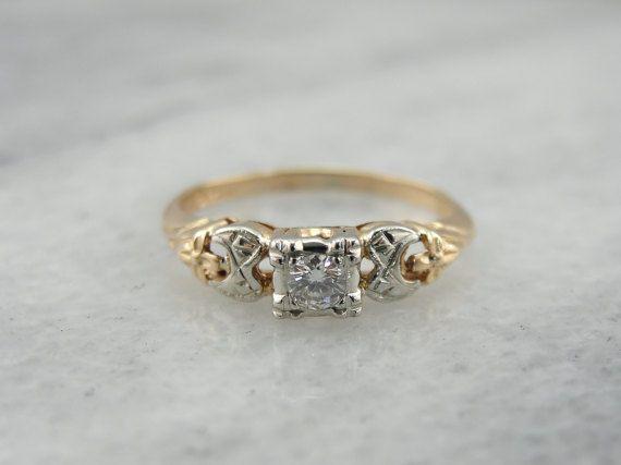 fda9fa44401 Petite Retro Era Diamond Sweetheart or Engagement Ring JXCC1E-P ...