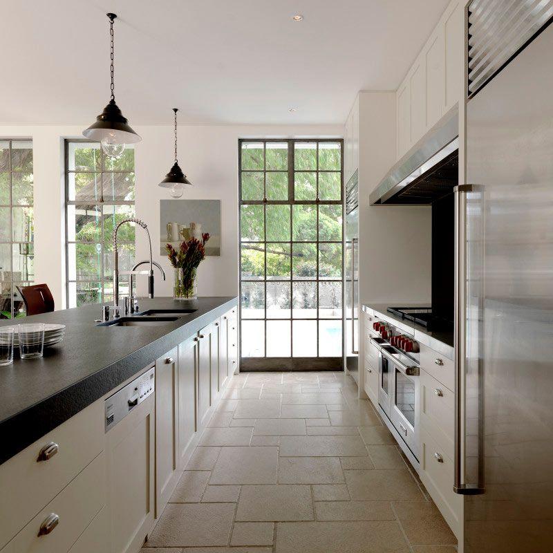 long kitchen island galley layout luigi rosselli architects apartment kitchen island on kitchen layout ideas with island id=23842
