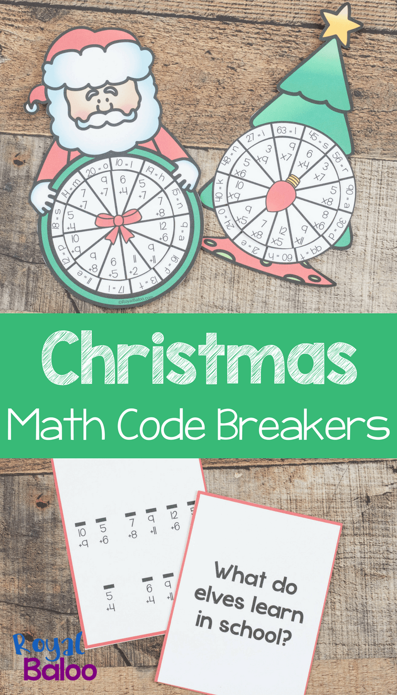 These Christmas code breakers are perfect for practicing a bit of ...