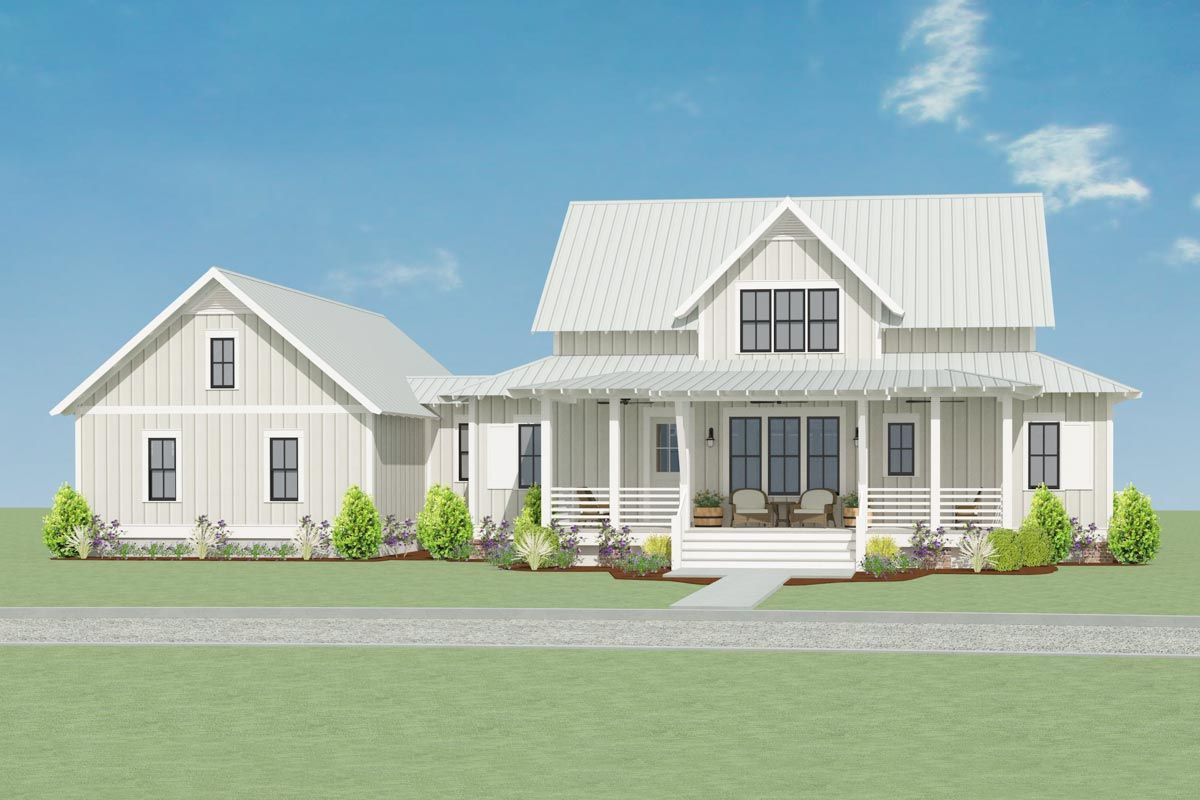 Brimming with charm, this Country Farmhouse house plan boasts ...