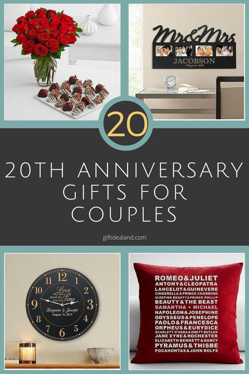 20 Best 20th Wedding Anniversary Gifts For Couples Husband Wife Mom Dad