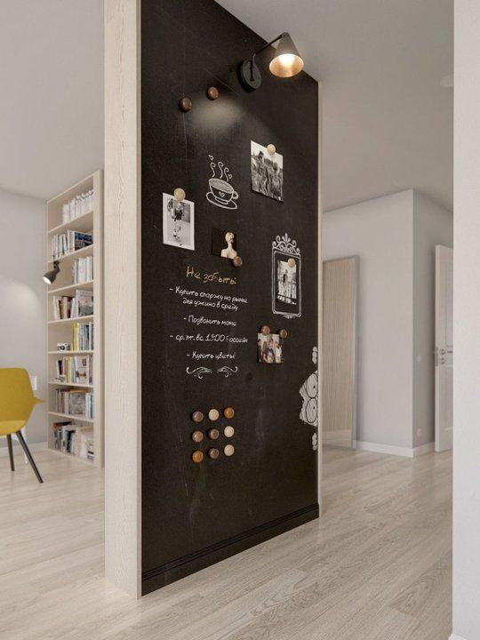 Not Just A Chalkboard Wall But It S Magnetic Too Okay This Might Be Good Around People With Defibrillators I May Have To Rethink One