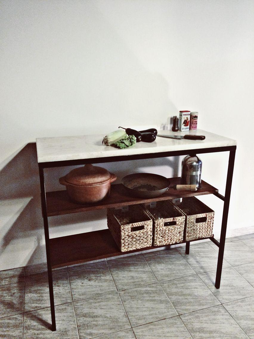Mesada de mármol hierro y madera para cocinar | Gonzalo | Pinterest ...