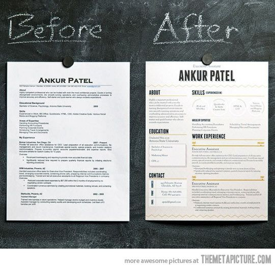 How to make your resume stand out\u2026 Graphic Design Pinterest