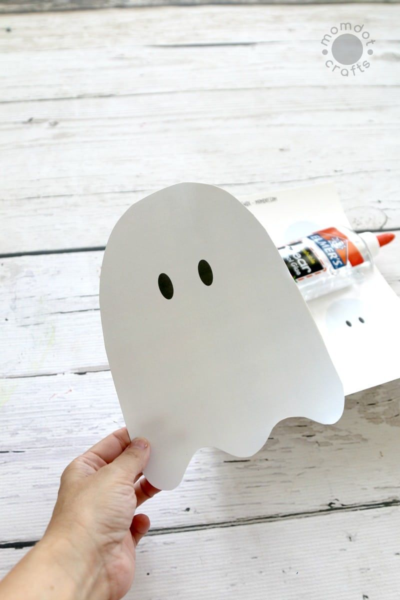Cotton Ball Ghosts with Free Downloadable Ghost Template  is part of Ghost template, Halloween crafts preschool, Ghost crafts, Templates printable free, Halloween preschool, Cotton ball crafts - Cotton Ball Ghosts with FREE Downloadable Ghost Template Printable, I love Halloween Crafts and this is a great one for preschoolers, kids of all ages