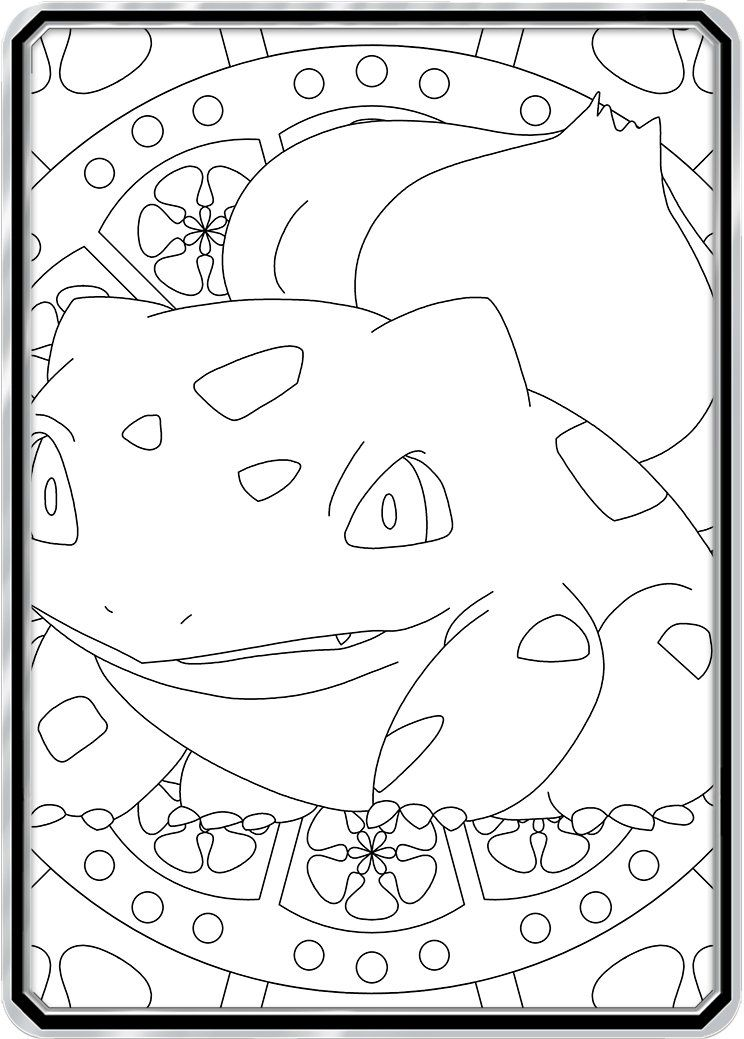 Color Me Bulbasaur Custom Pokemon Coloring Card Pokemon Coloring Pokemon Coloring Pages Color Card