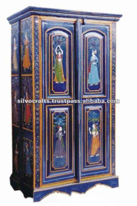Pintado de muebles de la india armario pintado imagen otros muebles plegables identificaci n - Muebles de la india ...