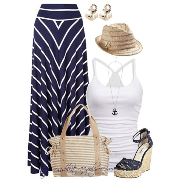 Navy, Anchors and Sailors - Polyvore