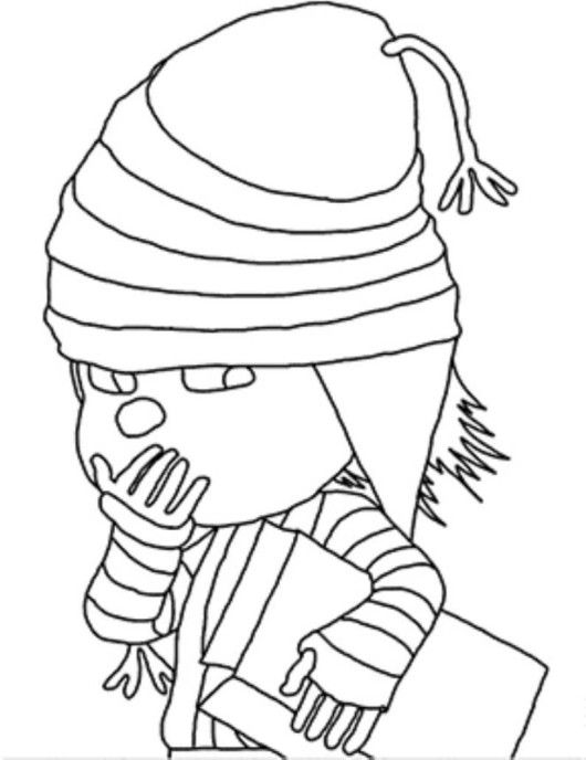 Despicable Me 2 Edith Coloring Page