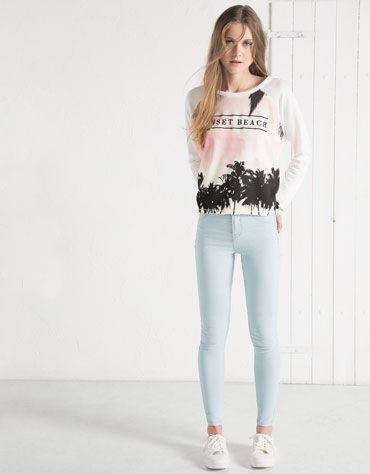 d819b8238e0d BSK Skinny jeans - Woman - Bershka Macedonia
