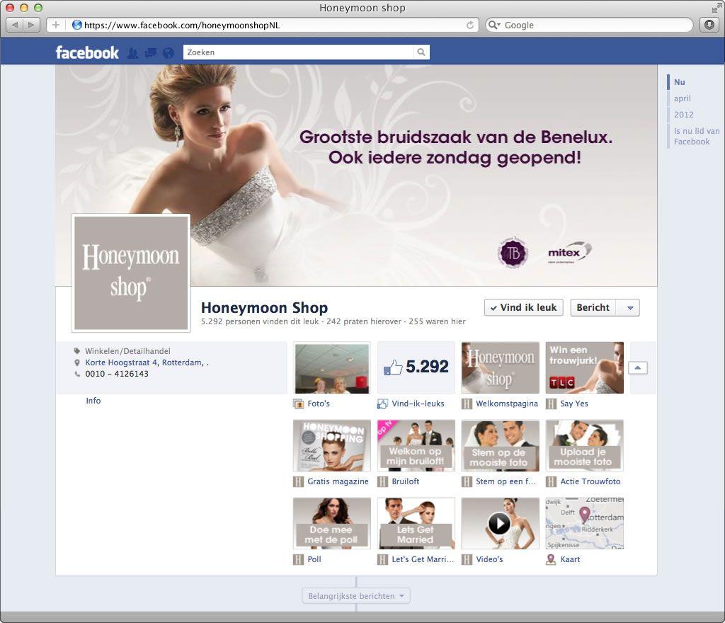 Facebook Timeline Met Op Maat Gemaakte App Ikonen