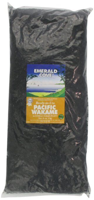 Emerald Cove Silver Grade Ready-to-Use Pacific Wakame (Dried Seaweed), 35-Ounce Bag: