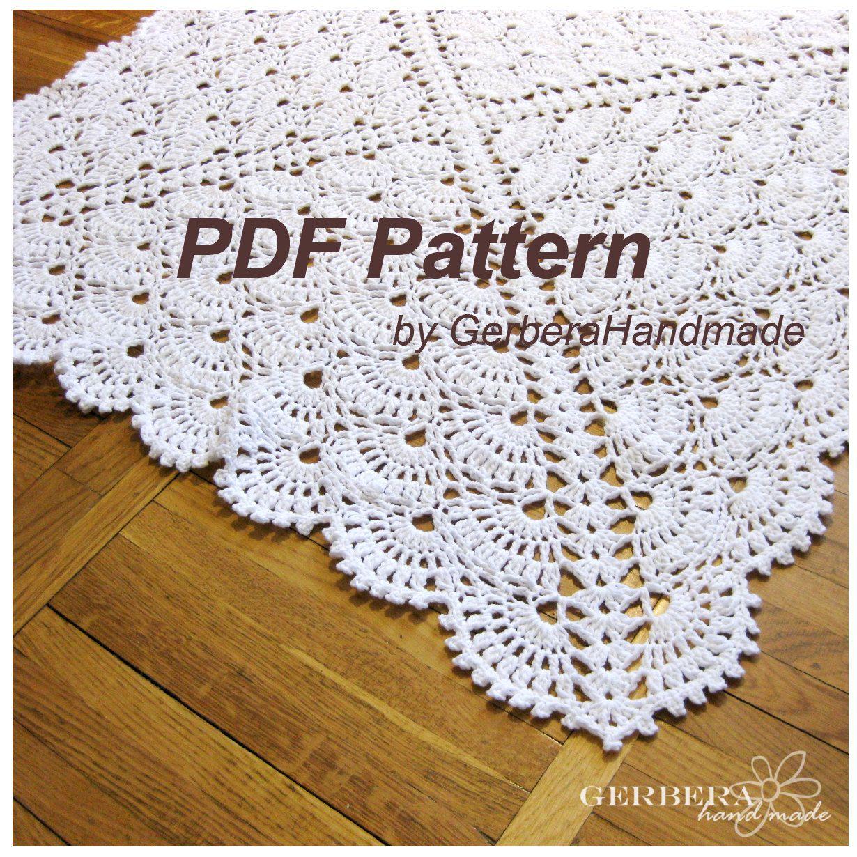 Crochet Pattern Baby Blanket Handmade Tutorial by GerberaHandmade ...