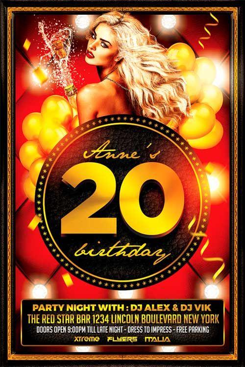 birthday bash flyer psd httpxtremeflyerscombirthday bash