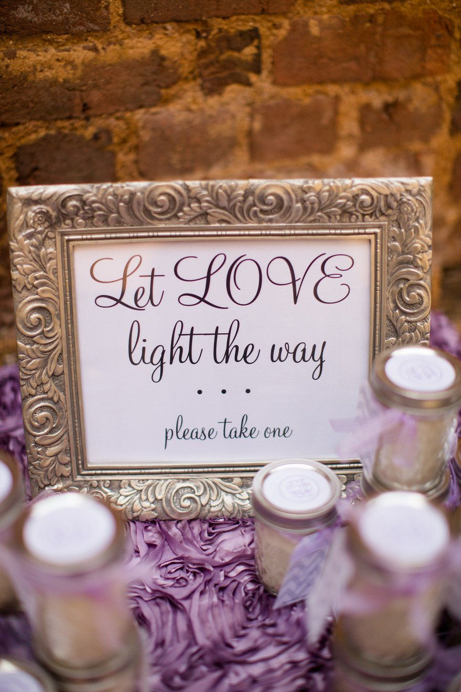 Super Cute Diy Let Love Light The Way Could Be Perfect With Sparklers Or Candles For Th Glow Stick Wedding Wedding Favours Sign Candle Bridal Shower Favors