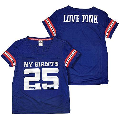 Women s Victoria s Secret PINK® New York Giants Tricot Jersey Top - NFLShop .com b45e97c81e