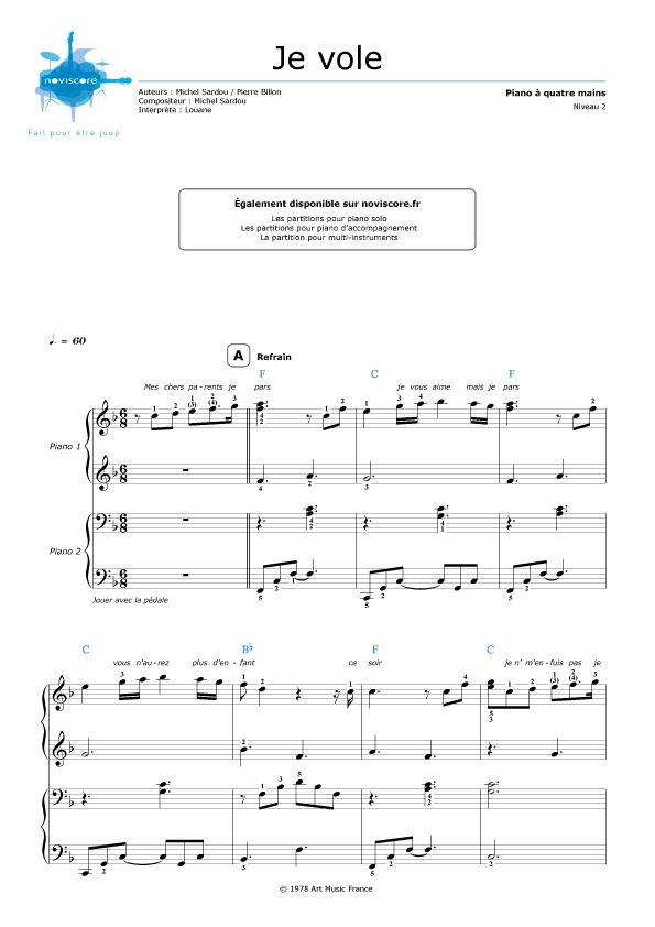 12 No/ëls pour Piano 4 mains et chant