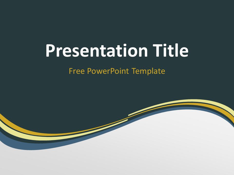 Golden Wave Powerpoint Template Presentationgo Com Powerpoint Templates Templates Powerpoint