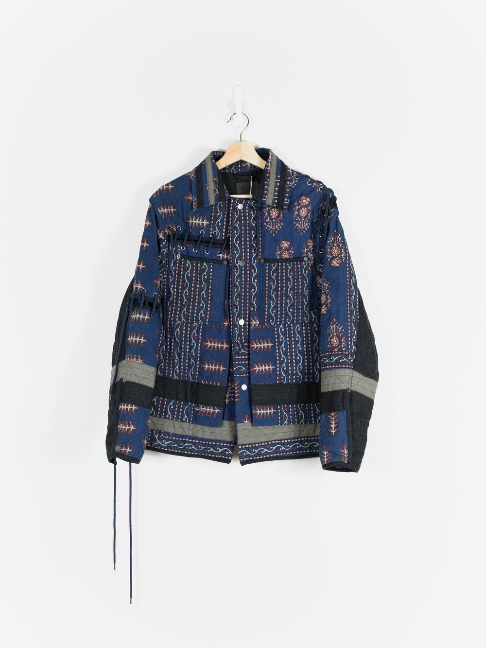 Craig Green Ss17 Laced Quilted Workwear Jacket Work Wear Leather Outerwear Jackets