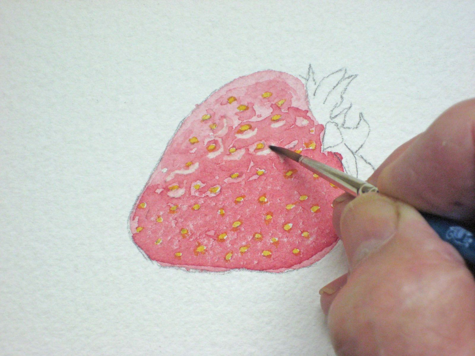 Painting Watercolor Strawberries Watercolor Lessons Painting