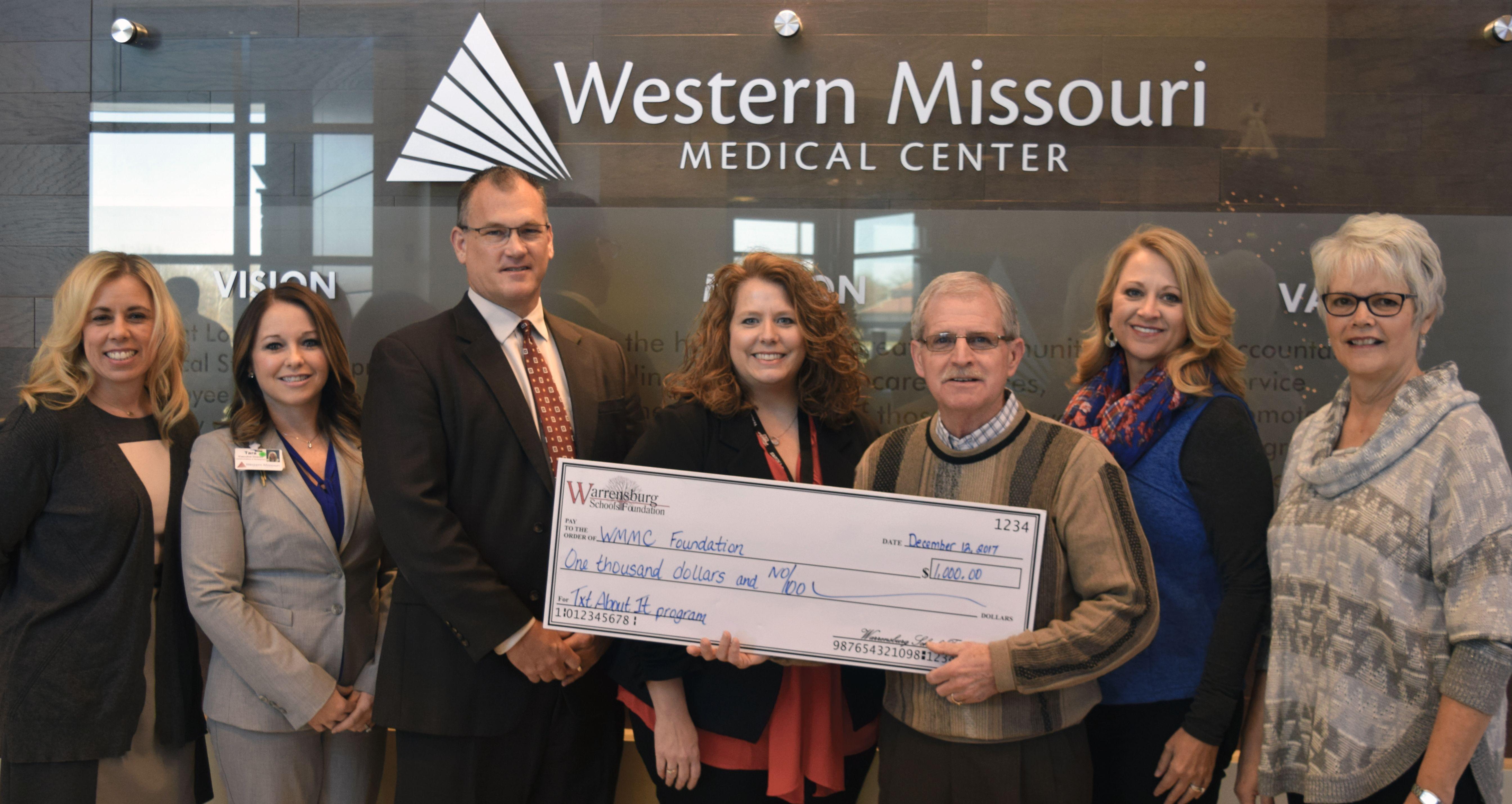 Wmmc Foundation Receives Donation From The Warrensburg Schools Foundation Western Missouri Medical Center Medical Center Medical Missouri